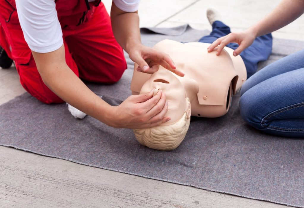 Emergency first aid for care workers